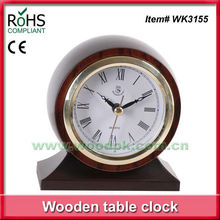 11.5x13cm Home made decoration quartz timber small table clock