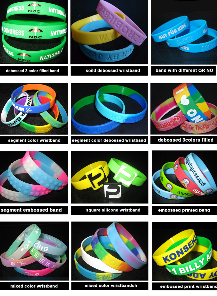 eco-friendly printed silicone bracelet