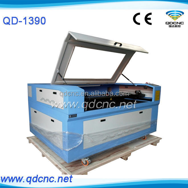laser cutting machine blue white QD-1390 cnc laser wood cutter with 130w, 150w made in China