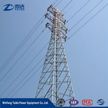 High Tension Electric Steel Lattice Tower For Power Distribution