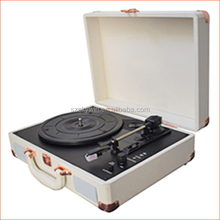 Hot Sale Suitcase Bluetooth Turntable Record Player with Stereo Speaker