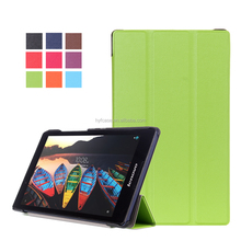 hot selling new arrival leather case for lenovo TAB3 850F tablet stand