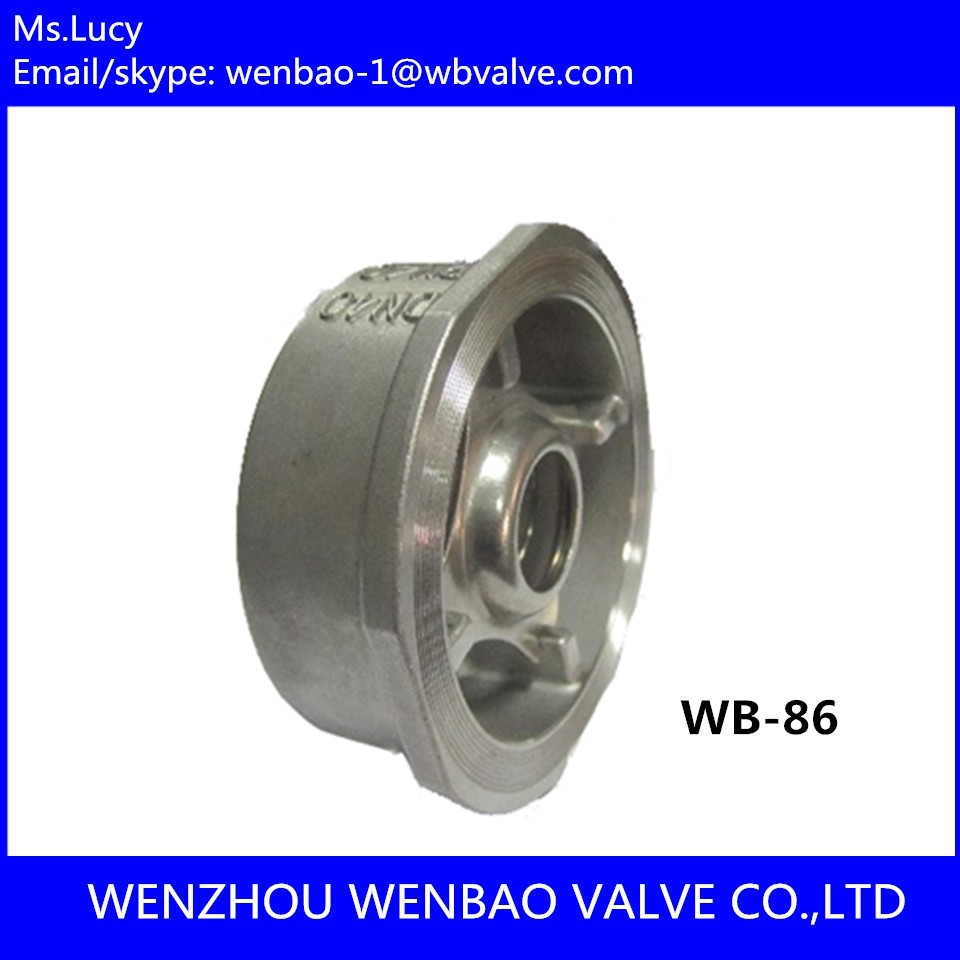 WB-86 Short pattern Wafer lift check valve DN40