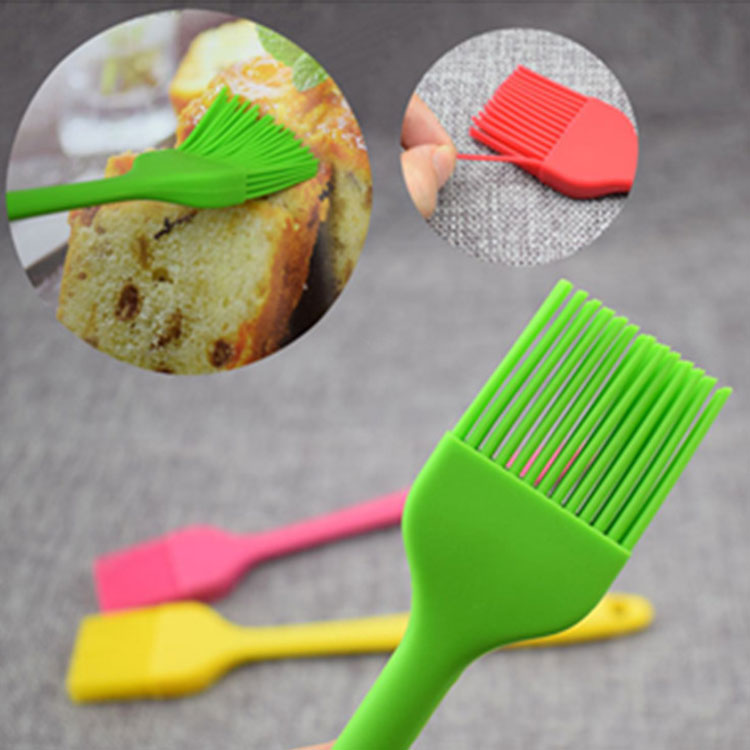 FDA 100% food grade silicone barbecue oil basting brush for cooking baking