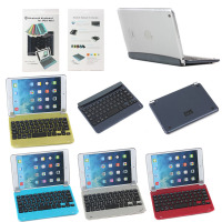 metal Aluminium Keyboard Case for iPad Mini 1 2 3, Bluetooth Wireless aluminum keyboard case for ipad mini 1 2 3