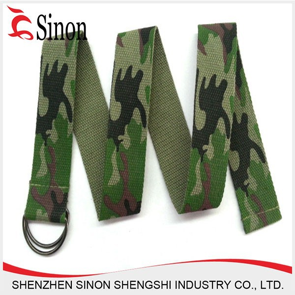 logo printing woven military canvas belt