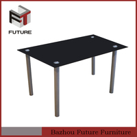 cheap modern tempered glass dining room table