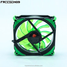 FREEZEMOD 120mm LED fan for computer DC 12V 4P+3pin 50CFM Cooler PC Case fan.FAN-RS12-G