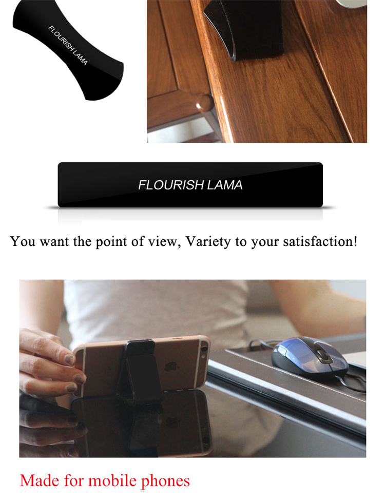 2017 newest flourish lama phone holder,custom logo for sticker anywhere