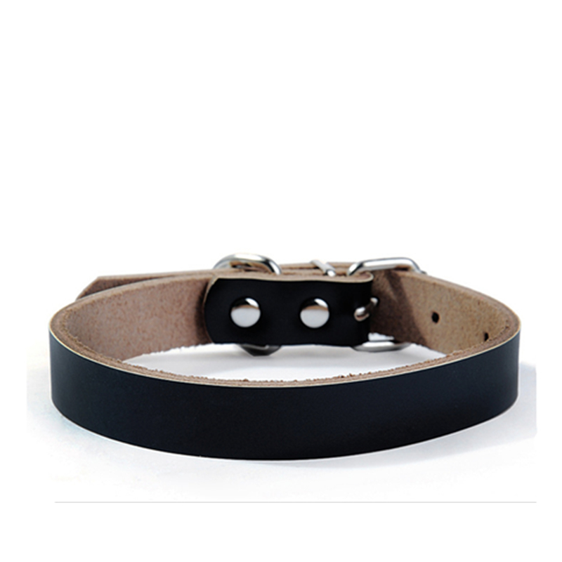 Dog Accessories Black Dog Leather Collars Durable Pet Collar