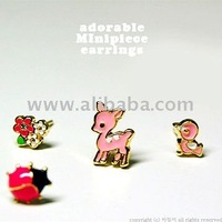 ADORABLE MINI PIECE EARRINGS/ Animal Motif Jewelry for Kid, Girl, Women and Females