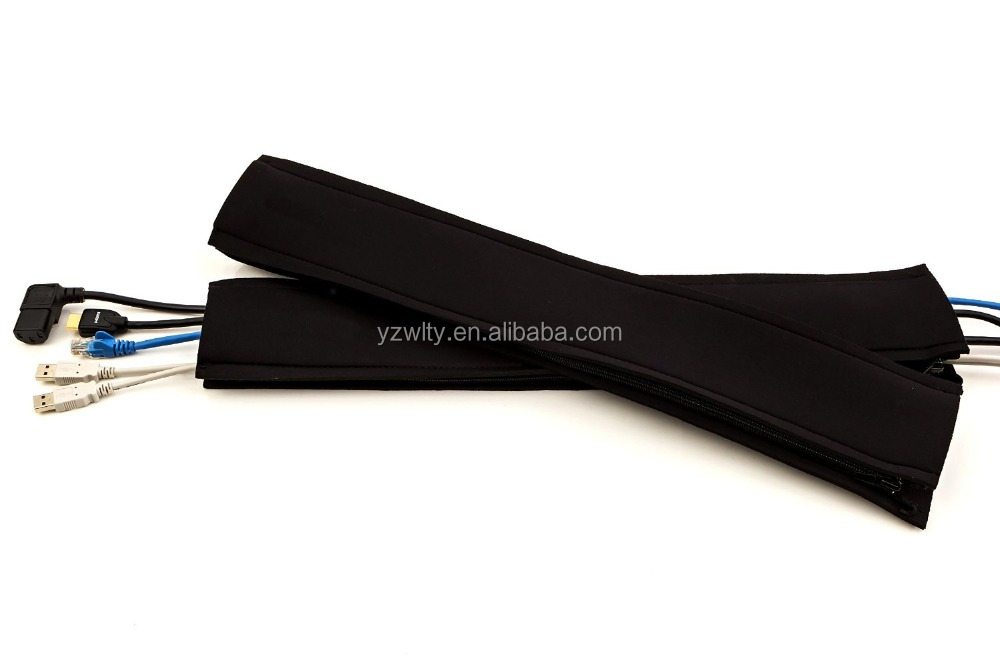 Neoprene Zipper Cable Management Sleeve Silicone Rubber Cable Sleeve
