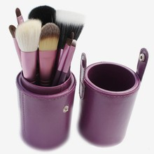 Hot Selling makeup kit Cup Holder With 12pcs Beauty Woman make up cosmetics powder brush foundation plastic cup holders