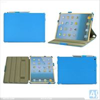 2013 new products for iPad Air leather Case with hand strap P-IPD5CASE008