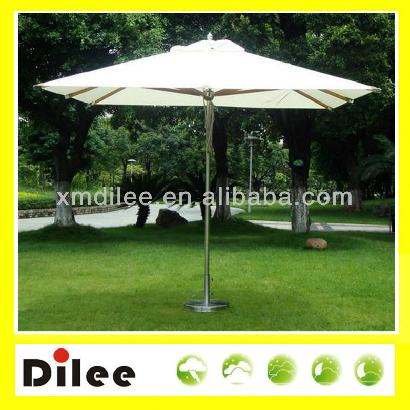 Stainless steel parasol fancy square garden umbrella white