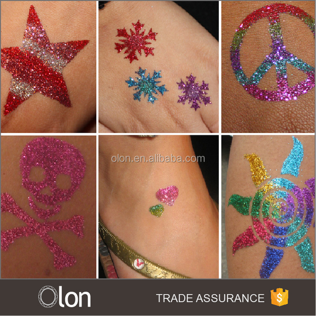 Kids glitter temporary tattoo