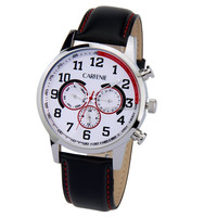 mens gold watches with japan movement high quality