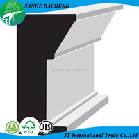 Chinese Primed MDF Skirting Board Architectural Moulding
