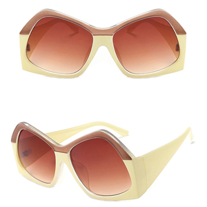 New Women Brand Designer 2019 Personality Europe Trendy Fashion Sunglasses Oversized Sunglasses
