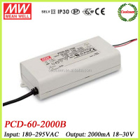Meanwell PCD-60-2000B 60W single output waterproof LED power supply IP42
