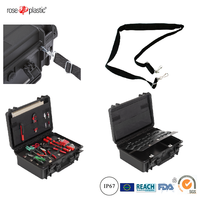 Hard durable solid dustproof plastic hold-all case tool packaging kit casewith IP67 waterproof RC-PS 290/1