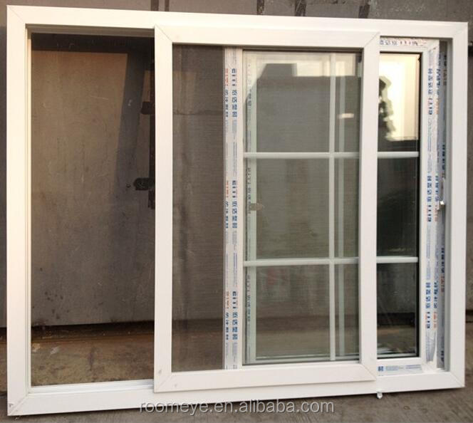 Double Glazed PVC Sliding Window with Mosquito Net/Fly Screen