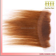 13x4 inch color 33 straight swiss lace silk frontal human hair piece