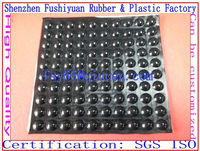 18x6mm soft black clear silicone antislip rounded self adhesive bumpers rubber feet 3M sticky rubber bumpons