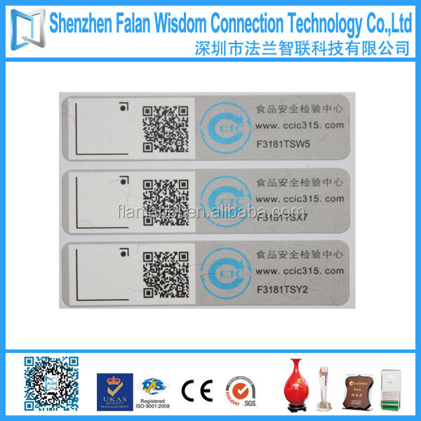 Self adhesive anti counterfeiting QR code label sticker roll
