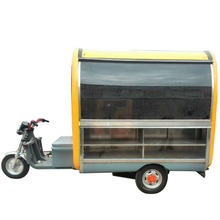 Fashion style mobile food cart with frozen yogurt