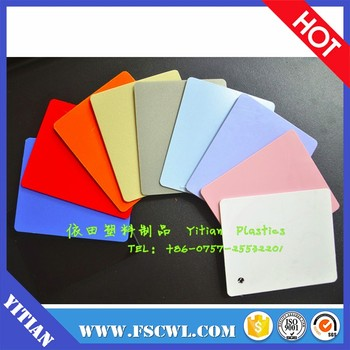 Price Per Kg Solid 1mm 2mm 5mm Thickness Double Color ABS Plastic Sheet / Board / Plate For Vacuum Forming