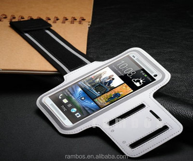Capas Celular Outdoor Running Jogging Sports Armband Case for HTC ONE M7, Mobile Phone Bags Arm Band Cases