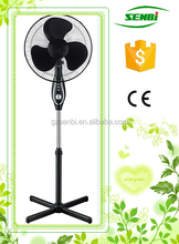 With CE certification parts electric stand fan 16'' with timer pedestal fan stand air cooler fan