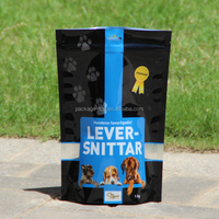Food Grade Water Proof and Customized Label Pet Dog Food Bag With Resealable Zipper