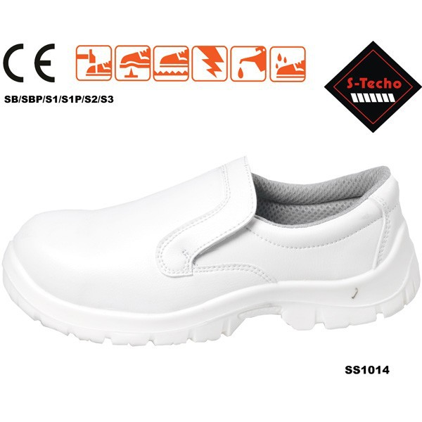 White safety shoes for chef