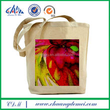 Natural color handmade organic cotton tote bag