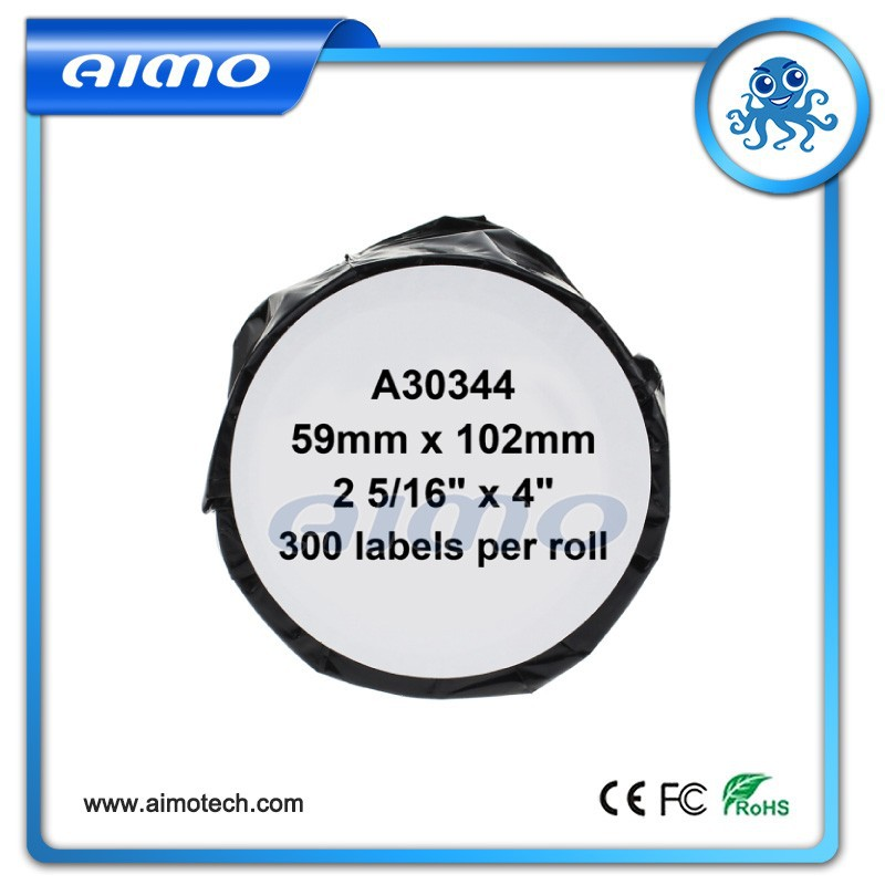 "2 5/16"" x 4""*300labels compatible LabelWriter shipping labels, white with red border 30344 for Dymo"