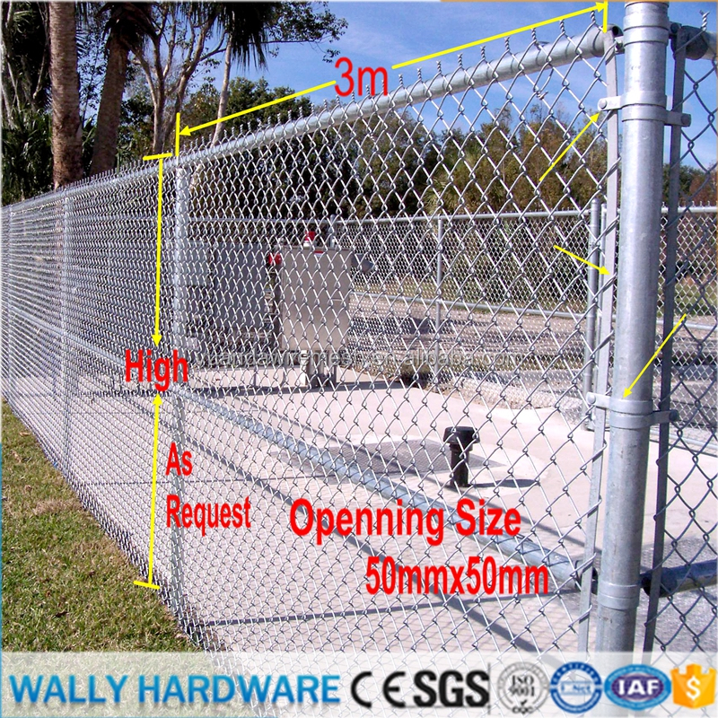 Relatively Low Cost Ease Of Installation Galvanized and Black PVC Coated /Plastic garden Chain Link Fence Supplies