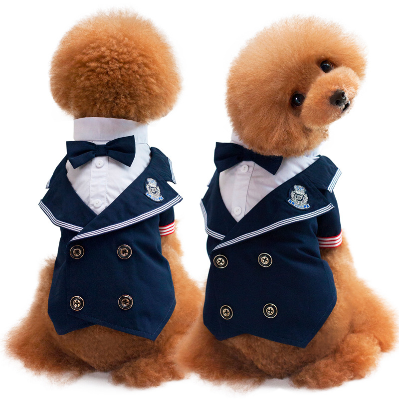 2017 New Hot Suits Pet Dress Pet Supplies Wedding Suits Lead Knot