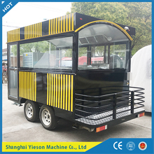 YS-HO350 pizza burger stall mobile kitchen trailer