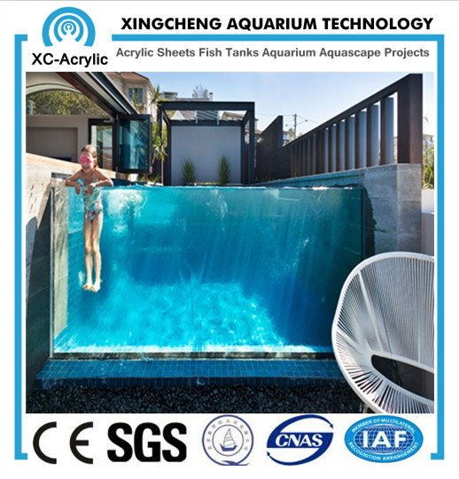 Xc manufacturer custom clear thick acrylic sheet for for Piscina de acrilico