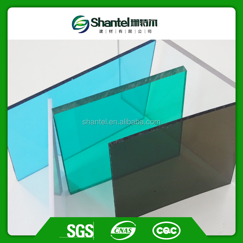 clear and colored Polycarbonate solid sheet with uv coating fire proofing sheet