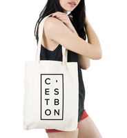 wholesale custom cotton canvas fabric gift tote bag