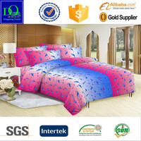 Ukraine market 100% polyester microfiber reactive printed fabric for bed sheet