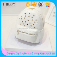 Alibaba PU Leather Travel Leather Studded Rivets Backpack