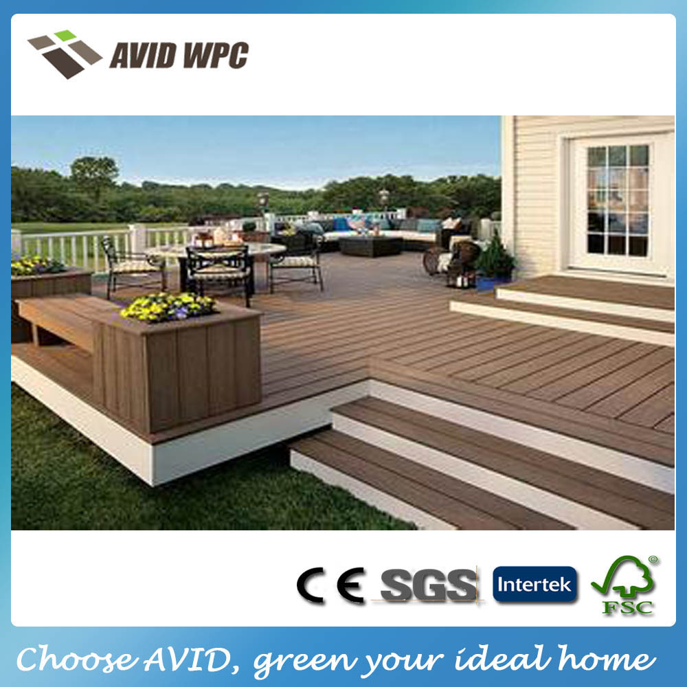 Different size and cheap composite decking prices outdoor for Garden decking for sale