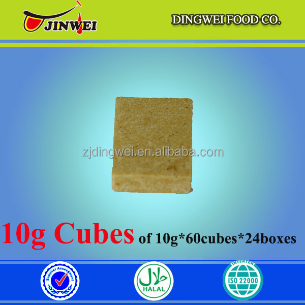 10G*60PCS*24BOXES/CTN AFRICA MUSLIM HALAL CHICKEN BOUILLON SEASONING CUBE