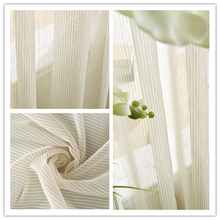 ALLBRIGHT very cheap fabric strip sheer curtains white or other colors