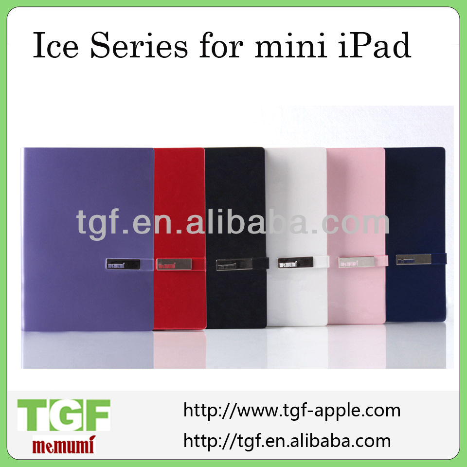 2013 hot sale new PU leather case for mini ipad