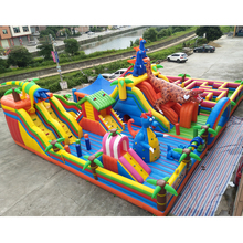 China Guangzhou giant inflatable dinosaur park 20*15*8m inflatable combo castle for amusement park